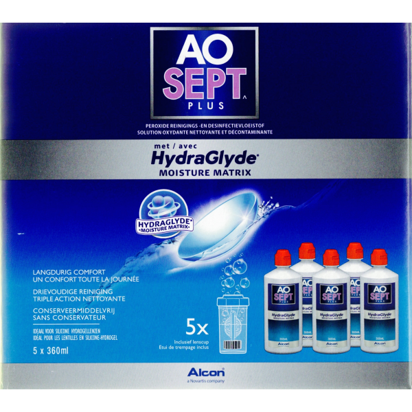 AOSEPT Plus HydraGlyde multipack 5x360ml