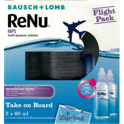 ReNu MPS Sensitive Eyes flight pack 2x60ml