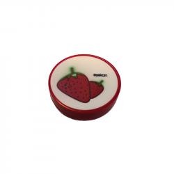 Kontaktlinsenbehälter Erdbeere