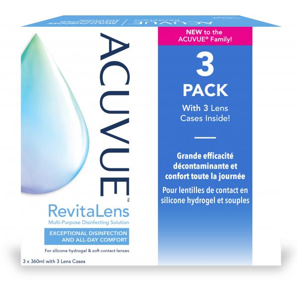Acuvue RevitaLens Multi-Purpose Disinfecting Solution multipack 3x360ml